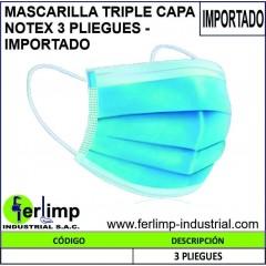 MASCARILLA TRIPLE CAPA...
