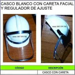 CASCO BLANCO CON CARETA...