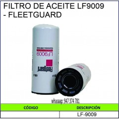 FILTRO DE ACEITE LF9009 -...