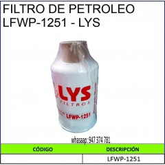 FILTRO DE PETROLEO...