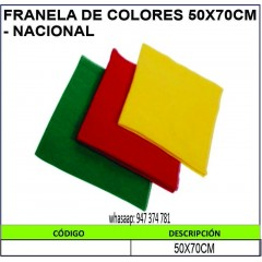FRANELA DE COLORES 50X70CM...