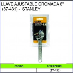 "LLAVE AJUSTABLE CROMADA 6""..."