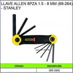 LLAVE ALLEN 8PZA 1.5-8 MM...