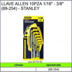 """LLAVE ALLEN 10PZA 1/16"""" -..."""