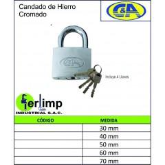 CANDADO DE HIERRO CROMADO -...