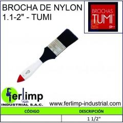 """BROCHA DE NYLON 1.1/2""""- TUMI"""