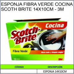 ESPONJA FIBRA VERDE COCINA...