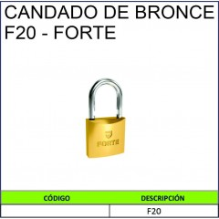 CANDADO DE BRONCE F20- FORTE