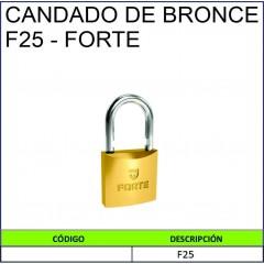 CANDADO DE BRONCE F25- FORTE