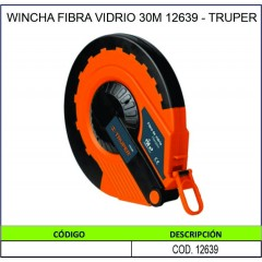 WINCHA FIBRA VIDRIO 30M...