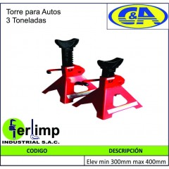 TORRE PARA AUTOS DE 3 TON -...