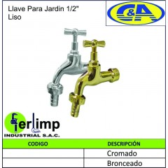 """LLAVE PARA JARDIN DE 1/2""""..."""