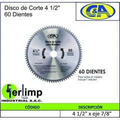 """DISCO DE CORTE DE 4.1/2""""..."""