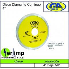 DISCO DE DIAMANTE CONTINUO...