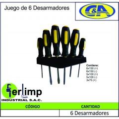 JUEGO DE DESARMADORES 6...