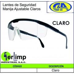 LENTES DE SEGURIDAD CLAROS...