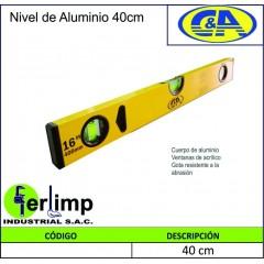 NIVEL DE ALUMINIO DE 40 CM...