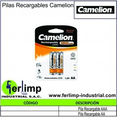 PILAS RECARGABLES - CAMELION