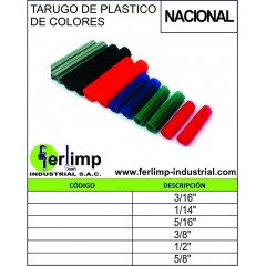 TARUGO DE PLASTICO DE COLORES