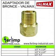 ADAPTADOR DE BRONCE - VALMAX