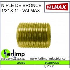 "NIPLE DE BRONCE 1/2"" X 1"" -..."
