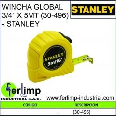 """WINCHA GLOBAL 3/4"""" X 5MTS..."""