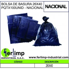 BOLSA DE BASURA 26x40...