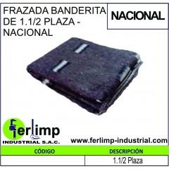 FRAZADA BANDERITA DE 1.1/2...