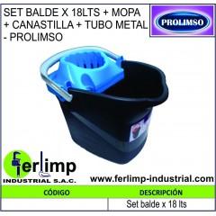 SET BALDE X 18 LTS + MOPA...