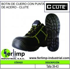 BOTIN DE CUERO CON PUNTA DE...